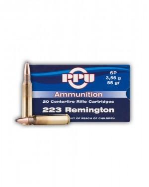 Боеприпас за дълго нарезно оръжие PPU cal.223Rem SP
