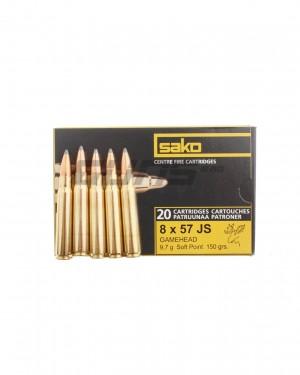 Боеприпас за дълго нарезно оръжие SAKO 8X57 JS
