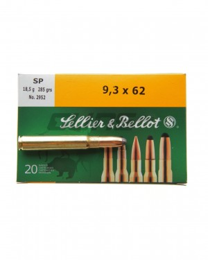 Боеприпас за дълго нарезно оръжие Sellier & Bellot 9.3X62