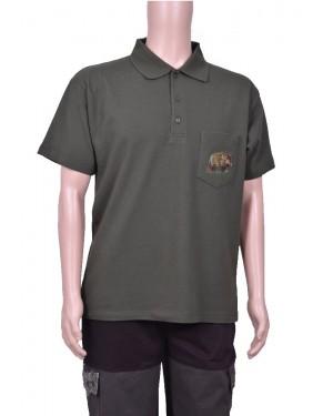 Тениска тип лакоста с бродерия